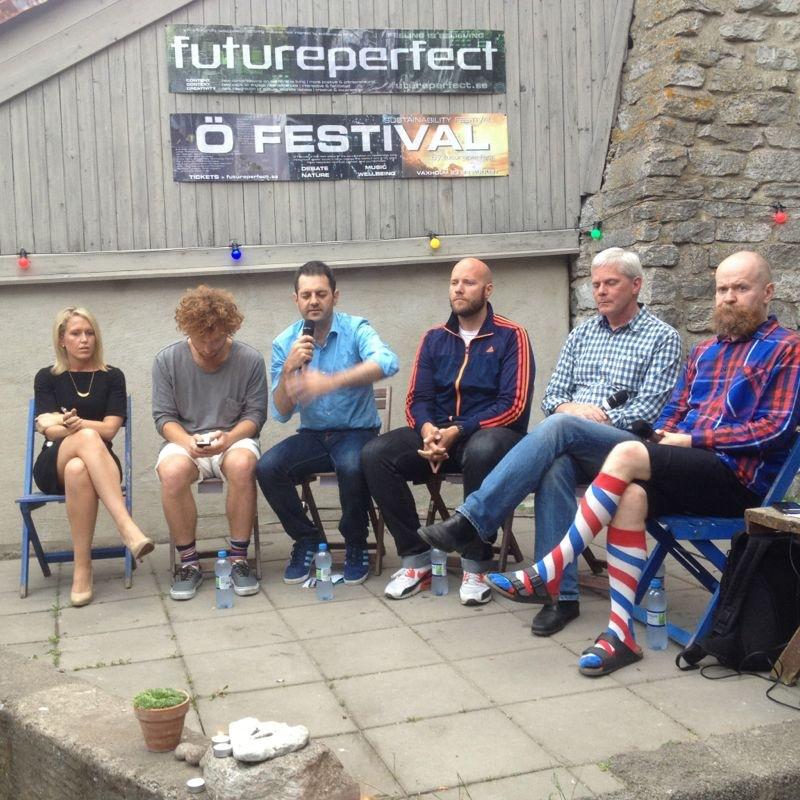 Panel i Almedalen med wikileaks, Måns Adler från Bambuser, Alexander Bard och Fredrik Wass
