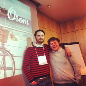 Björn Fant och Anton Johansson presenterar Osom på SSMX.