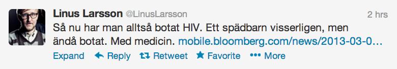Linus Larssons tweet