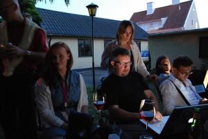 Makthavare.se:s redaktionsträdgård under almedalsveckan 2010