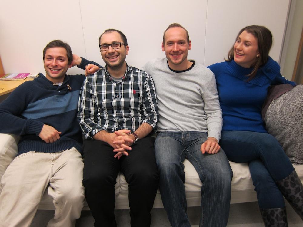 Volumentals grundare Alper Aydemir, Miroslav Kobetski, Rasmus Göransson och Caroline Walerud.