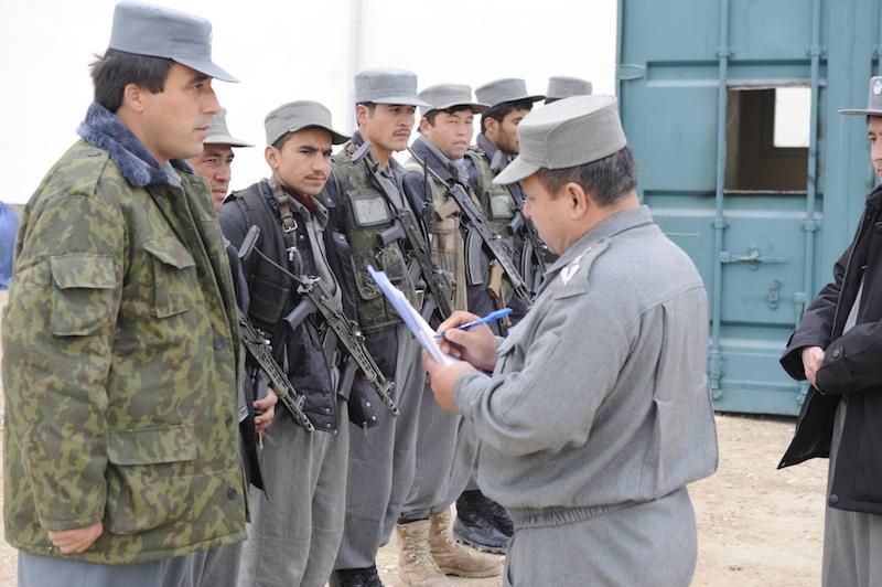 Afghanska polisen - uppställning