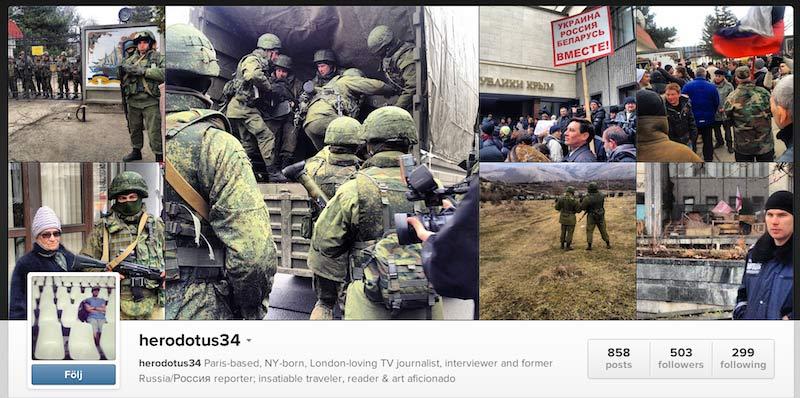 Följ utvecklingen i Ukraina via Instagram.