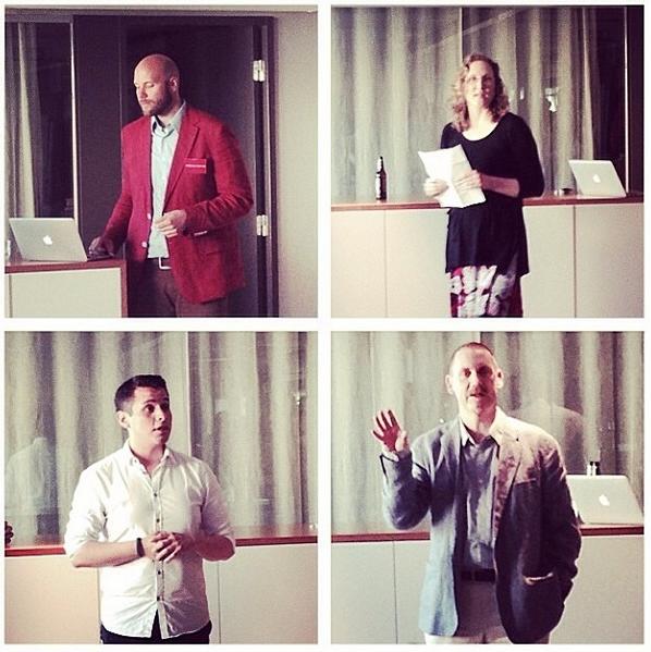 Några av talarna under Speakers Corner. Foto: Malena Beijer Mörck.