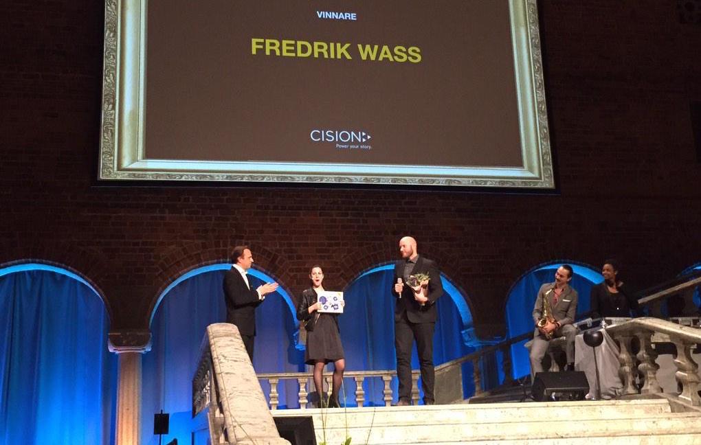 Fredrik Wass Cision PR Influencer Award 2014