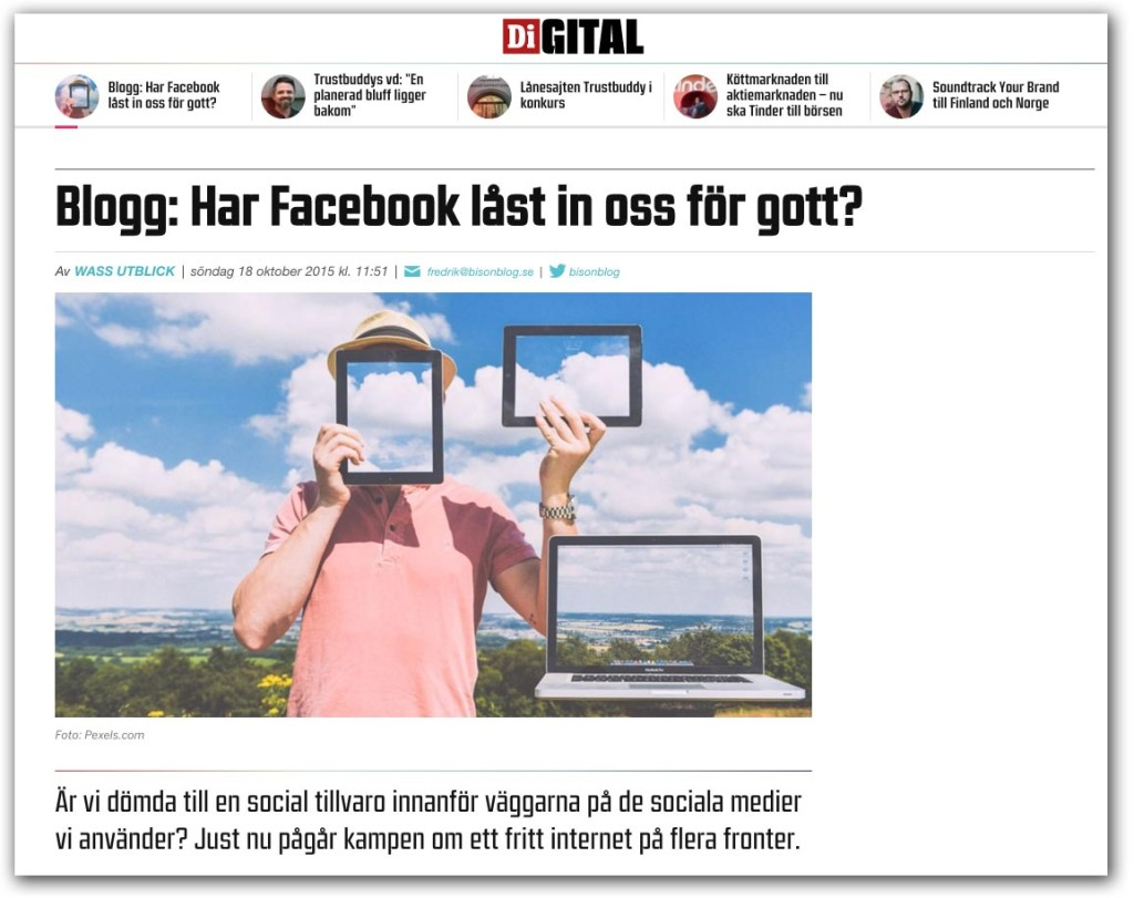 Di Digital - Har Facebook låst in oss för gott?