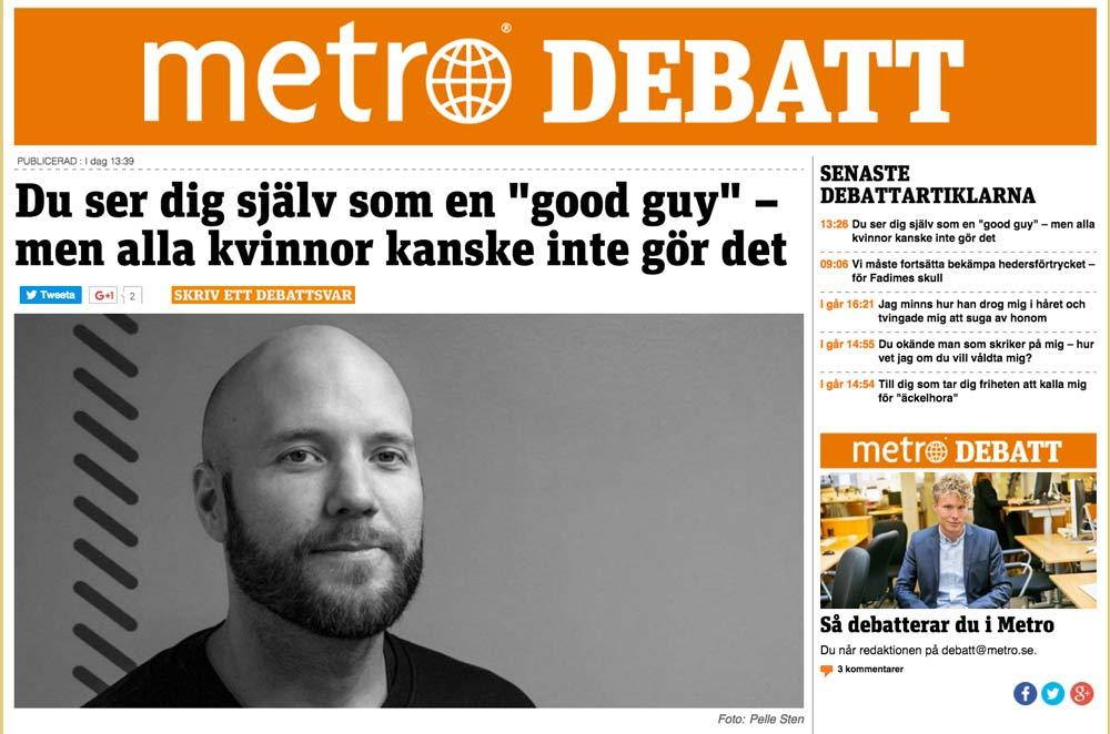 Metro debattartikel av Fredrik Wass