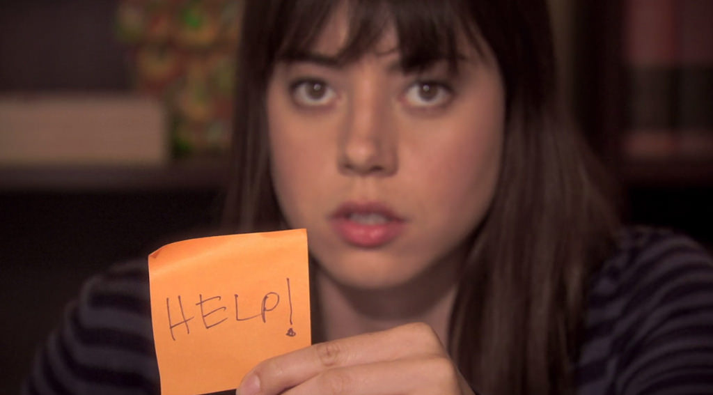Help! post it Aubrey Plaza Parks and Recreation