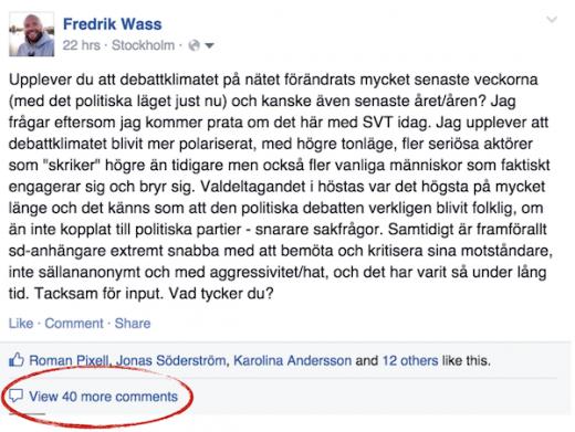 Be om hjälp på Facebook