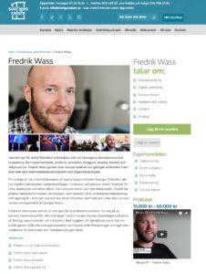 Fredrik Wass - Sveriges Talare