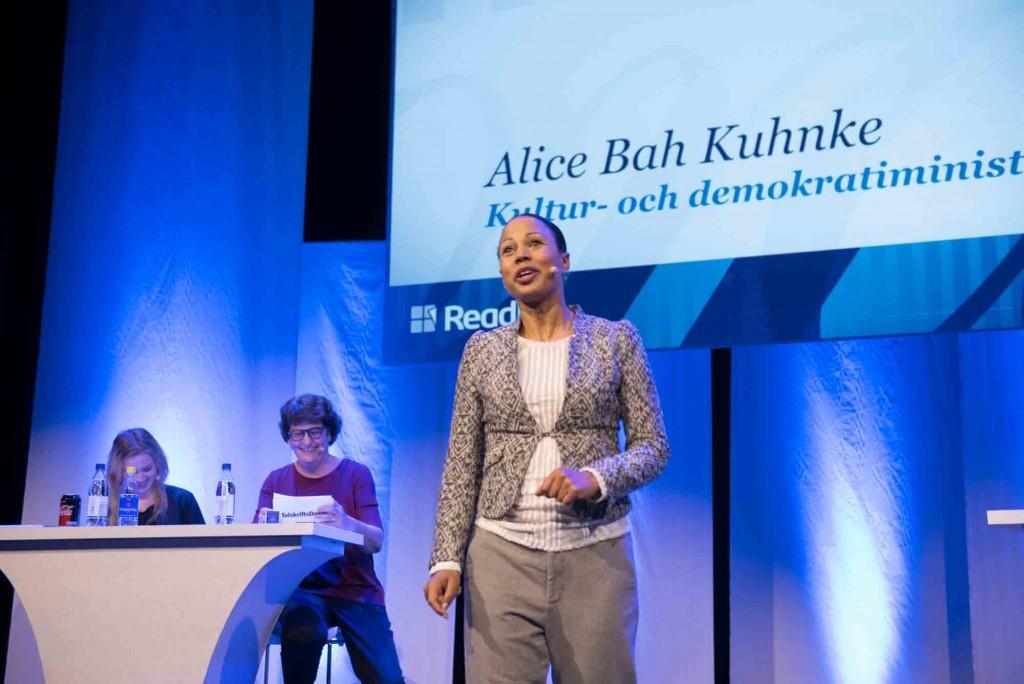 Tidskriftsdagen Alice Bah Kuhnke, kultur- och demokratiminister