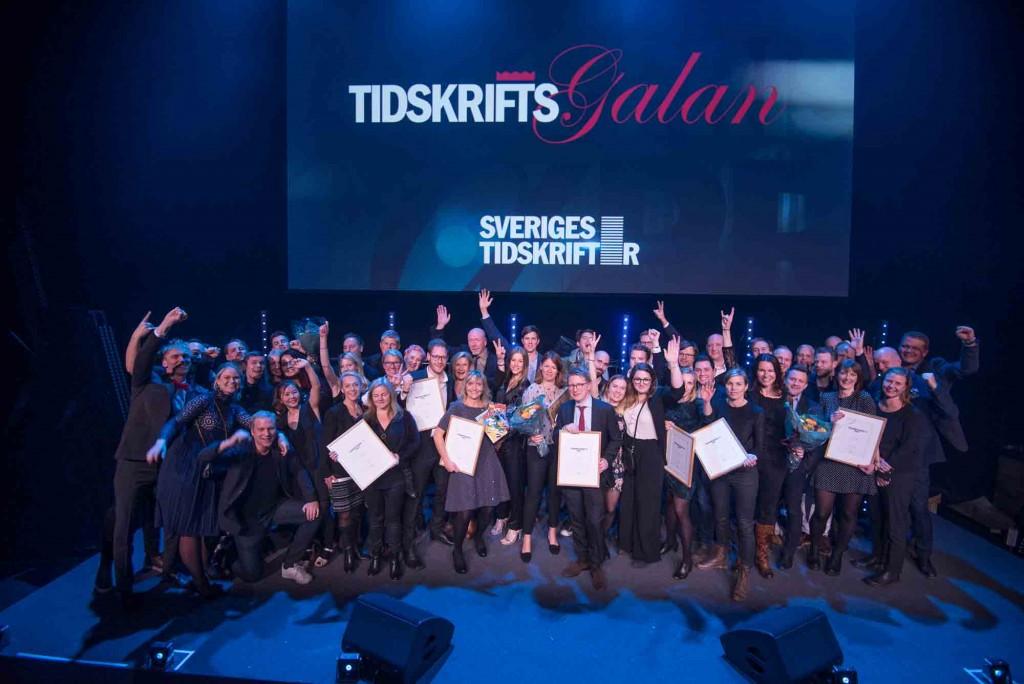 Vinnare av Tidskriftspriset 2017. Foto: Anette Persson